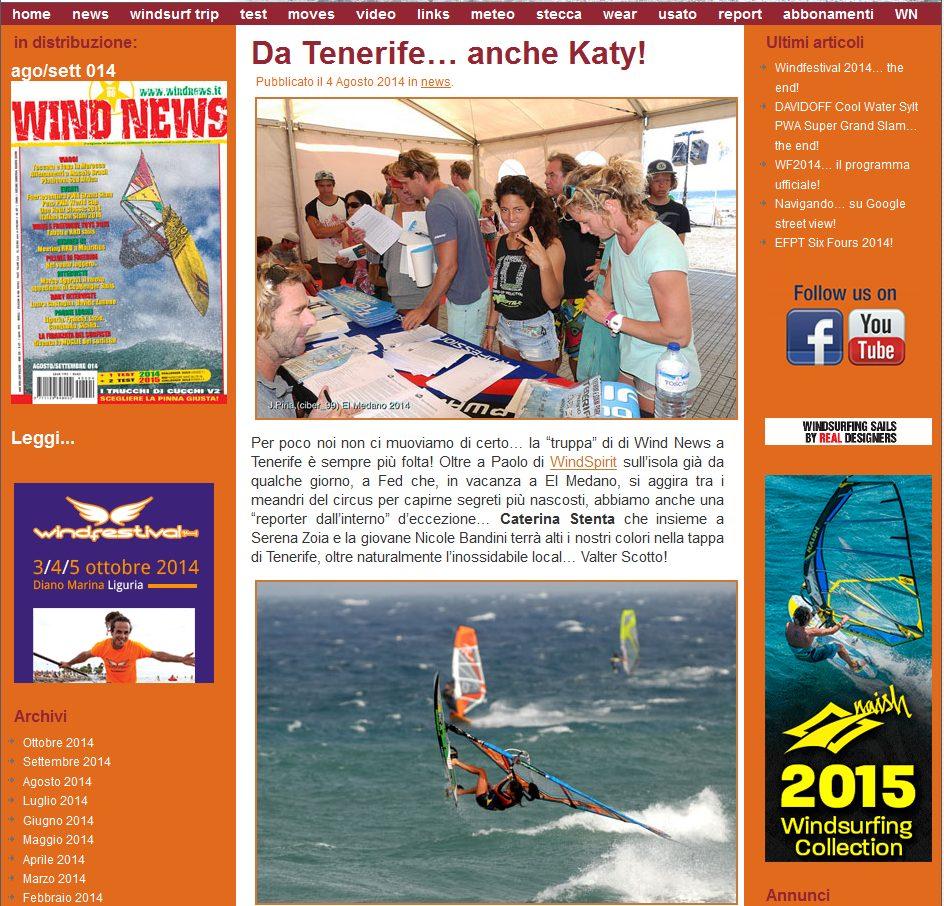 windnews pwa tenerife